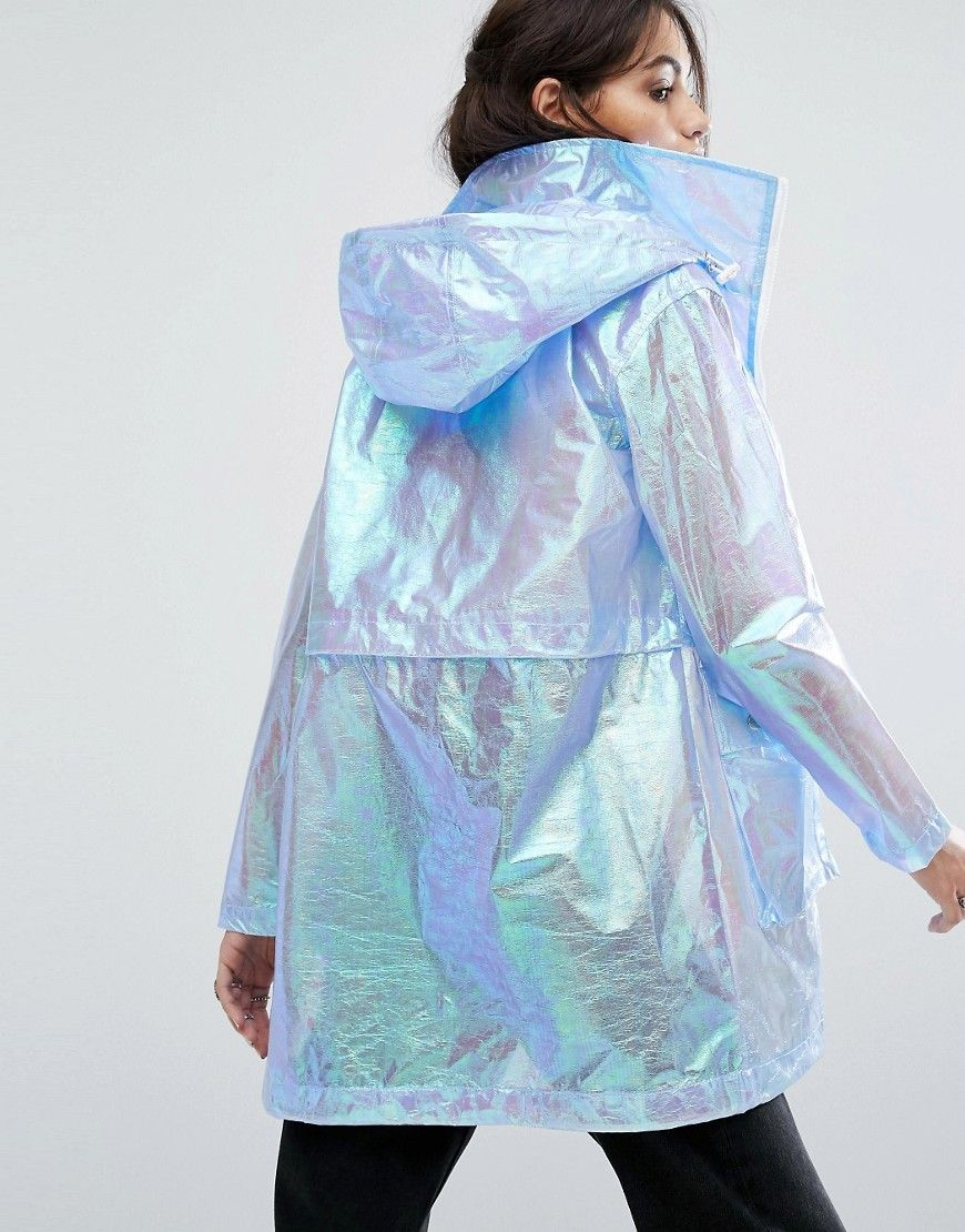 Eva Ladies Lace Transparent Clear Rain Coat Mac Raincoat UK Casual Festival
