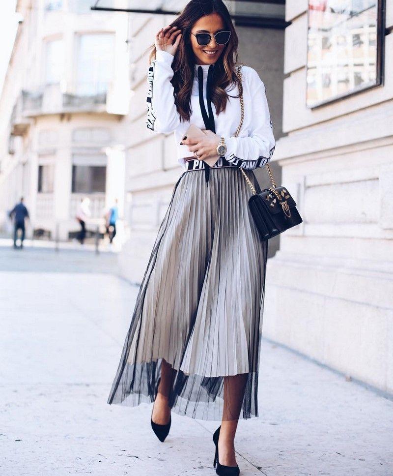 5304838e819 Очаровательные луки с юбками весна-лето 2019-2020  модные фасоны ...