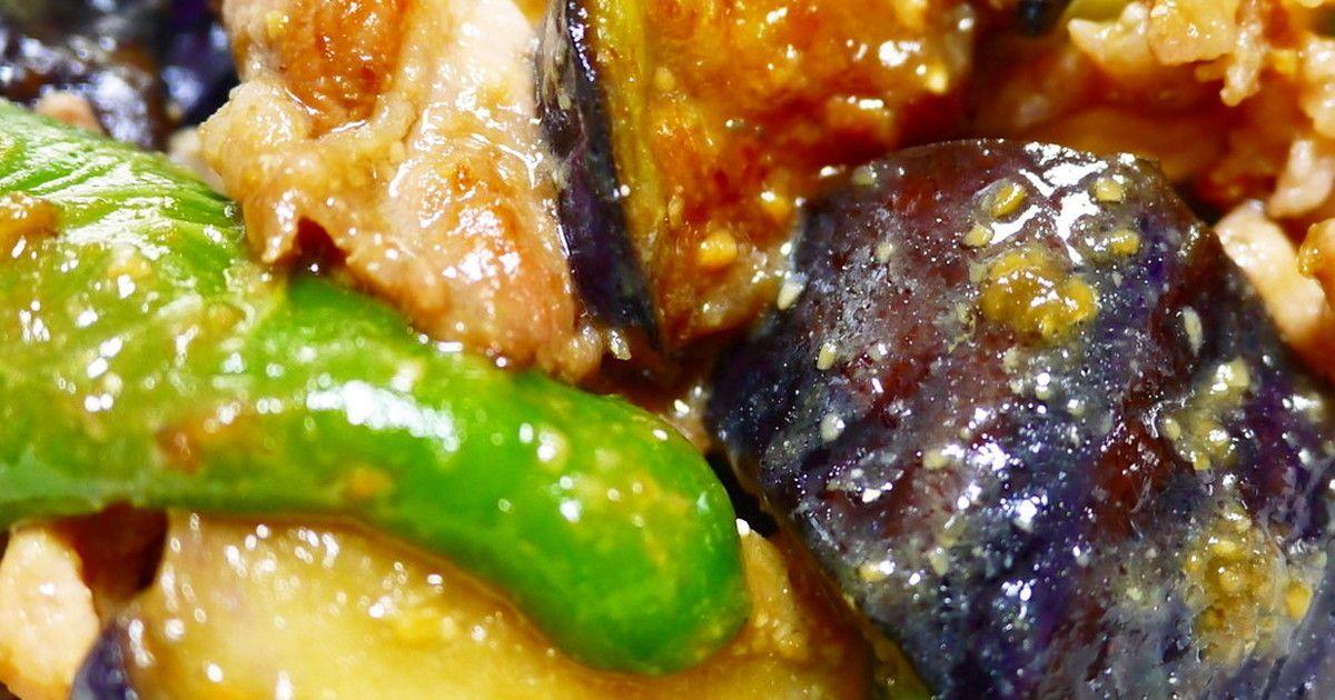 豚こまと夏野菜で♪なすとピーマンの鍋しぎ by ほっこり~の [クックパッド] 簡単おいしいみんなのレシピが249万品