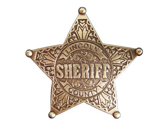Little Far West Etoile De Sheriff Badge Le Far West