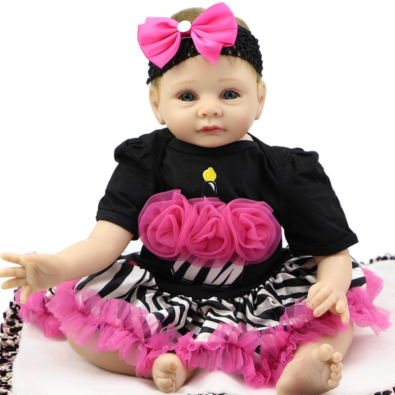==> [Free Shipping] Buy Best Lovely Reborn Babies 22 inch Real Life Dolls soft silicone Doll Collectible Fashion Baby Toy Birthday Gift For Girl Online with LOWEST Price | 32811023504