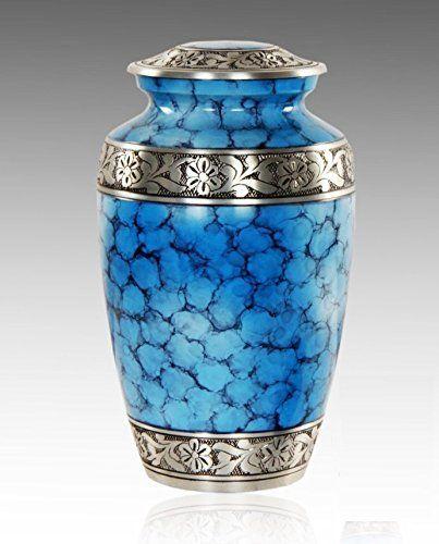 Decorative Large Urns Amazing Serene Blue Large Cremation Urn For Human Ashes  Adult Funeral Design Decoration