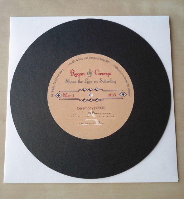 record invitations wedding black diy gold invitations record invitations retro vintage a side obscuro