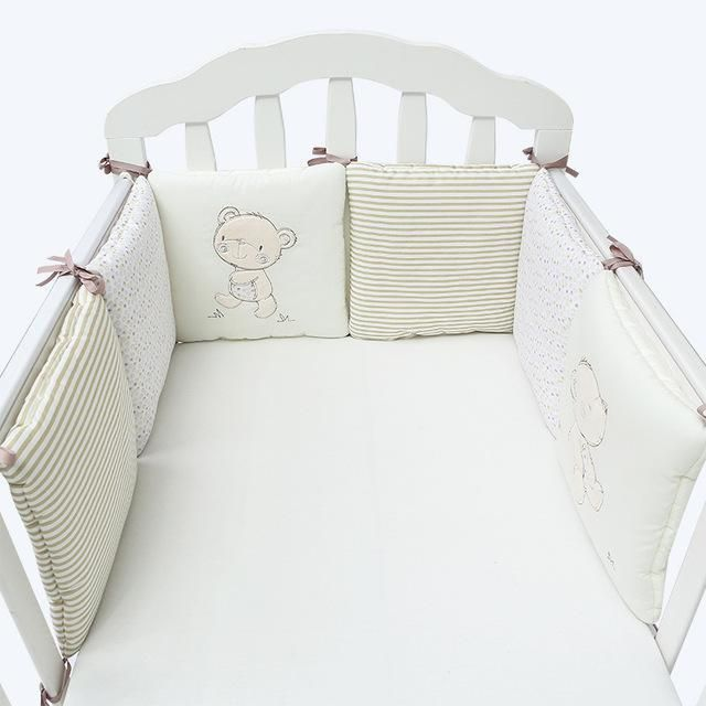 Baby Bumpers In the Crib For Newborn Cotton Linen Cot Bumper Baby Bed Protector