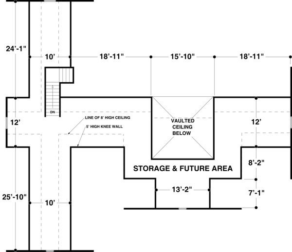 this is the attic to the other floor plan