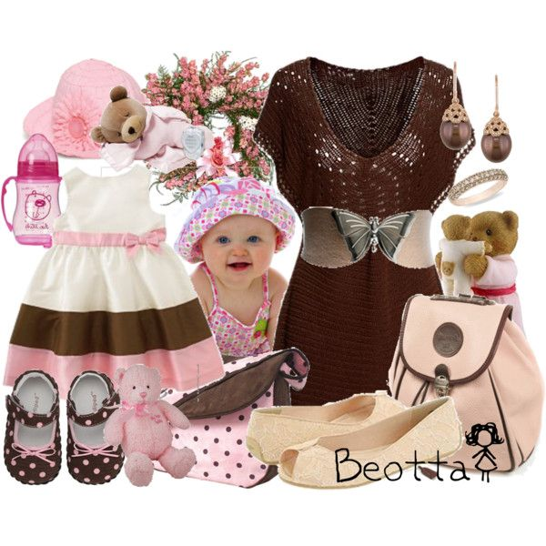I'm cute like my mum!, created by beotta on Polyvore
