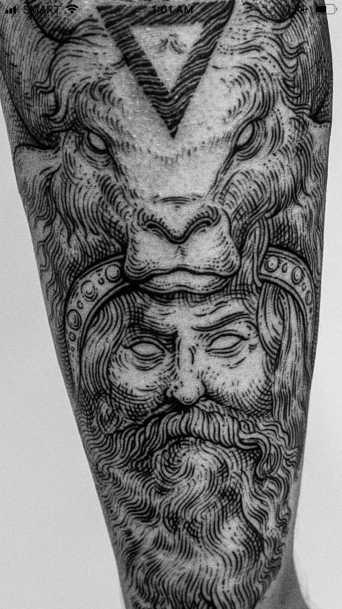 Awesome Linework Zeus Tattoo Black And Grey Gray Tattoo Design Works Body Art Tattoos Black Tattoos Black And Grey Tattoos