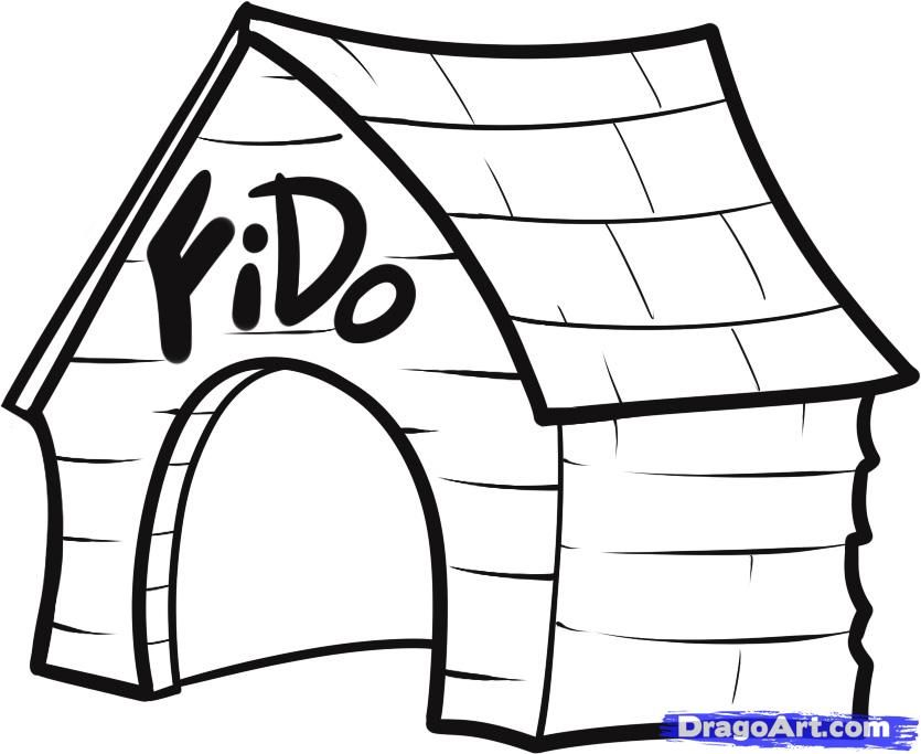 Pictures Of Cartoon Houses Az Coloring Pages Dog House House