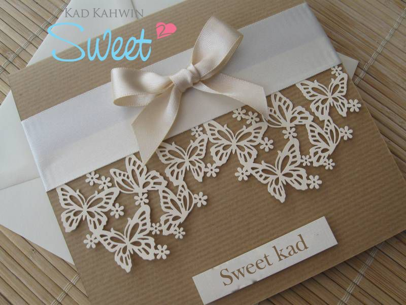 chinese wedding invitation card in malaysia%0A Luxury Vintage Themed Wedding Invitation  Laser Cut Butterfly Design with  Satin