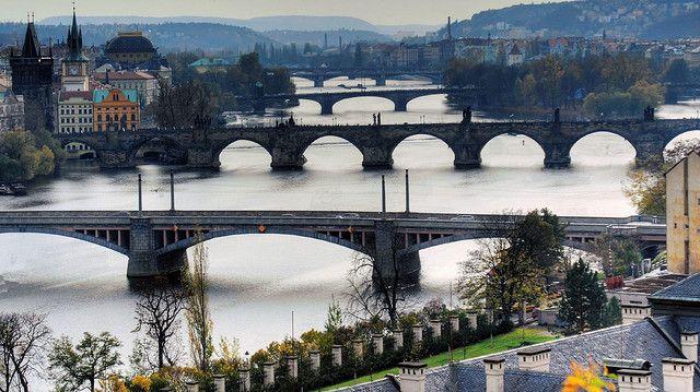 Bridges of Prague by exchman, via Flickr