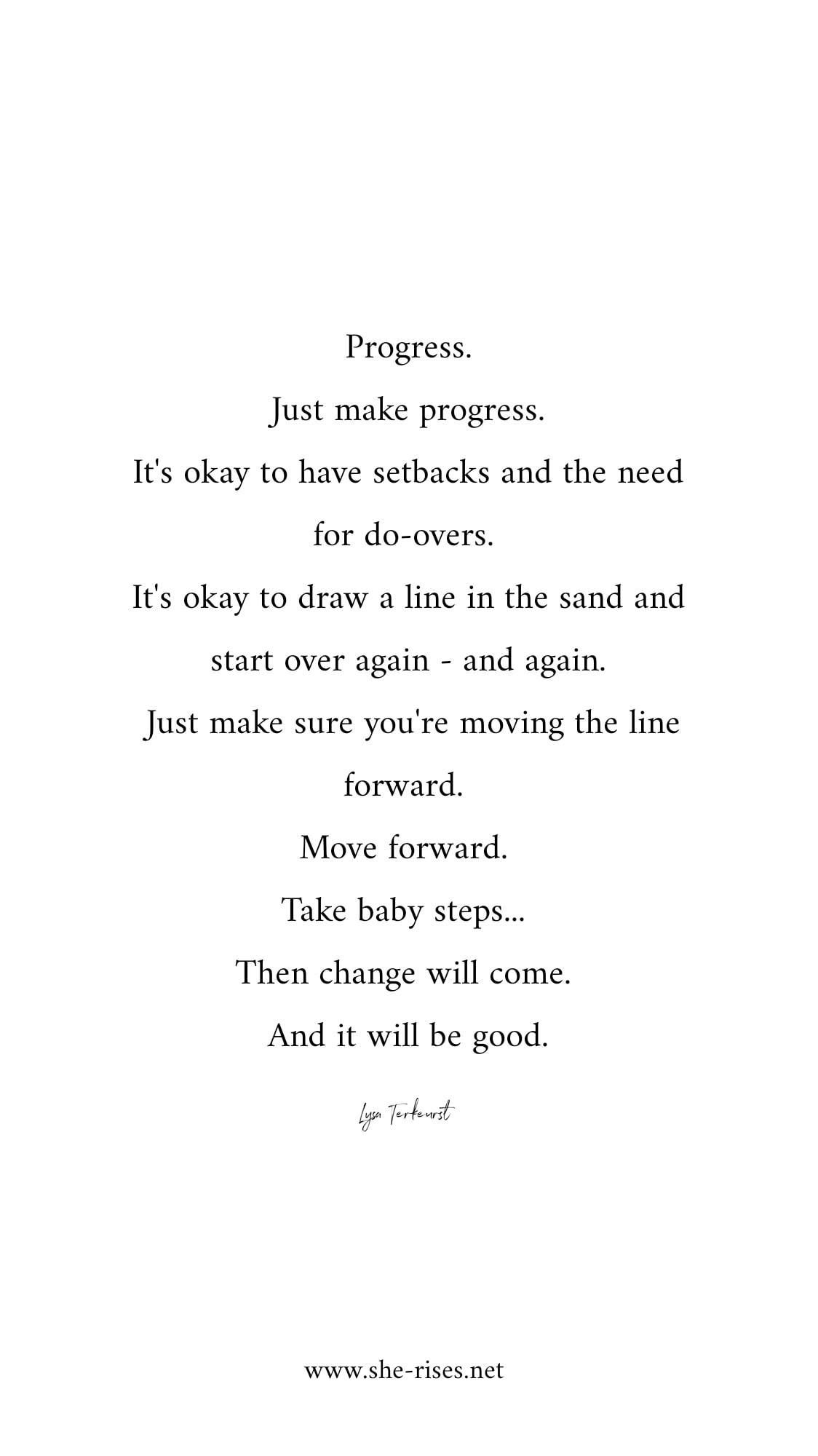 Just make Progress  Words quotes, Quotes to live by, Words