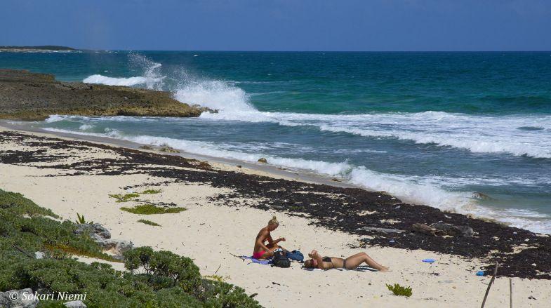 MX_150227 Meksiko_0201 Turkoosinsinistä Karibianmerta El Miradorissa Cozumelin saarella