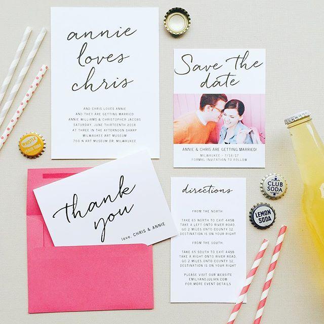 Fun And Colorful Wedding Invitation Suite Wedding Invitation Inspiration Wedding Invitation Trends Basic Invite