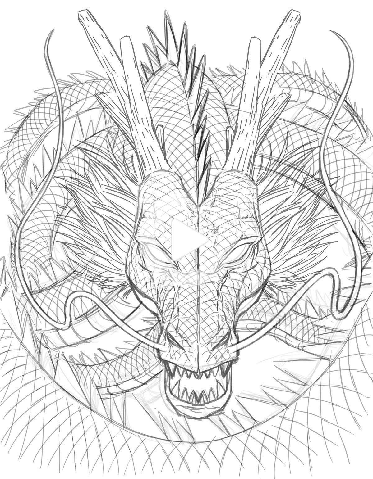 Shenron Dragon Dragon Sketch Dragon Ball Tattoo Japanese Dragon Drawing