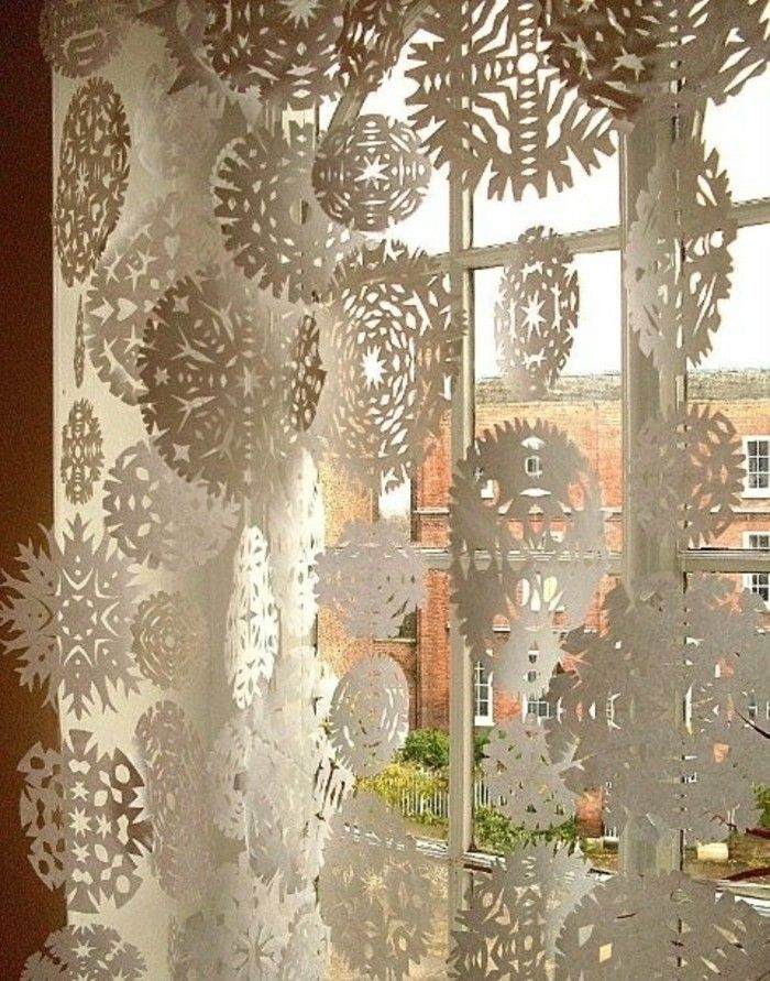 Bezaubernde Winter Fensterdeko zum selber Basteln #fensterdekoweihnachten