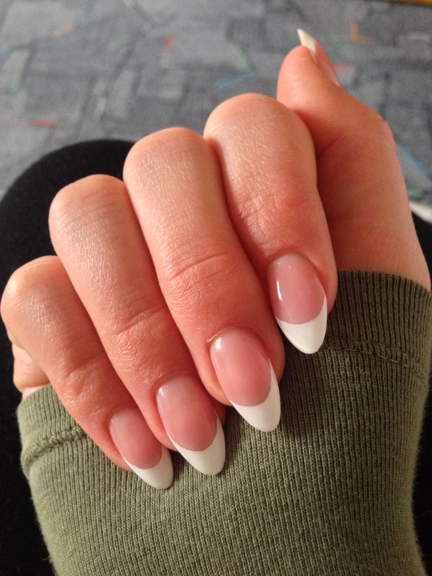 French Nägel French Nails Weiß White Spitz Makeup Nails In 2019