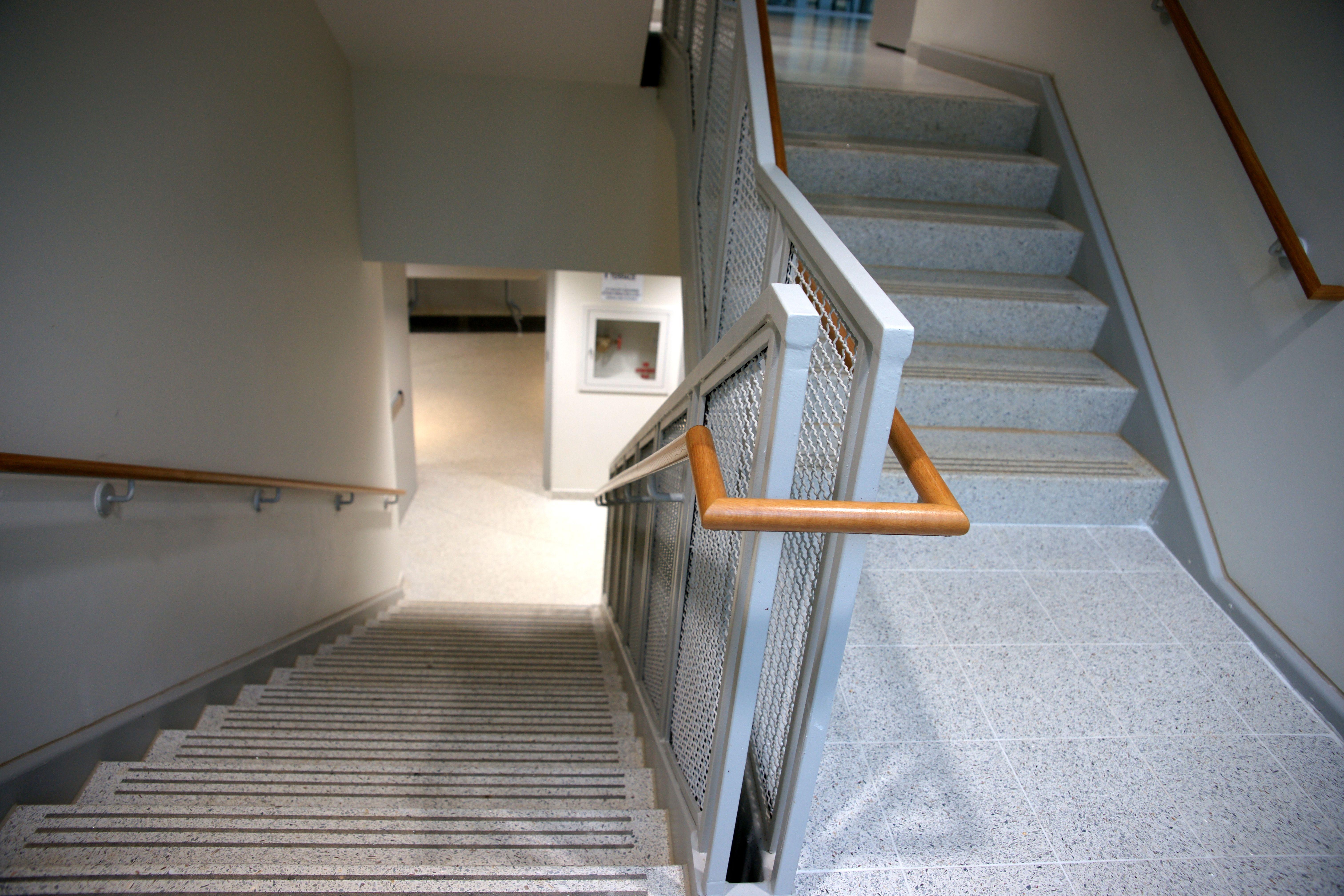 Epoxy Precast Terrazzo Stair Treads And Riser Combos Www.terrazzco.com # Staircase #terrazzo #precast #stairs #treads