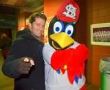 Fredbird and Matthew Morrison are full of Glee since the Redbirds are in the NLCS.