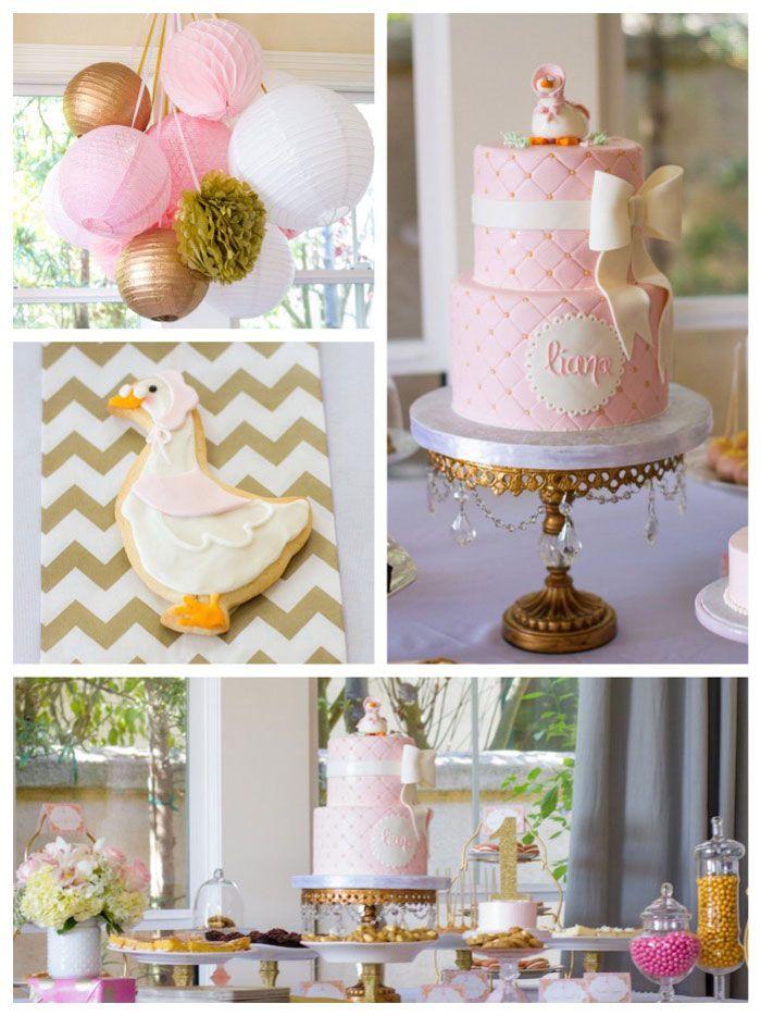 Elegant Mother Goose Birthday Party Baby In Pumpkin