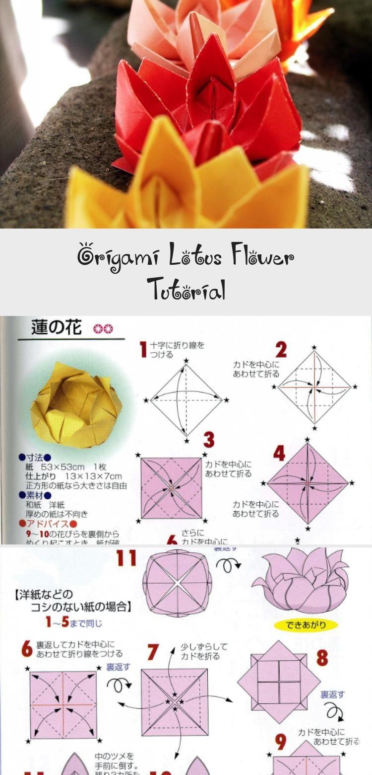 Photo of Origami Lotus Flower Tutorial via Paper Kawaii #origamiDessin #origamiTurtle #or…