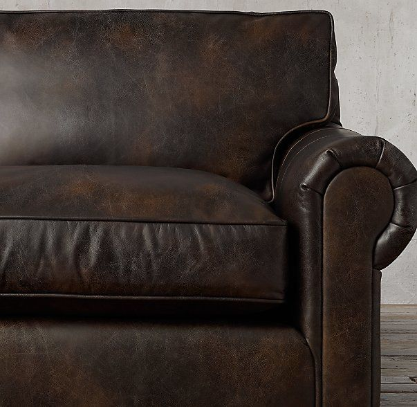 Restoration Hardware Return Policy the petite lancaster leather right-arm sofa chaise sectional in