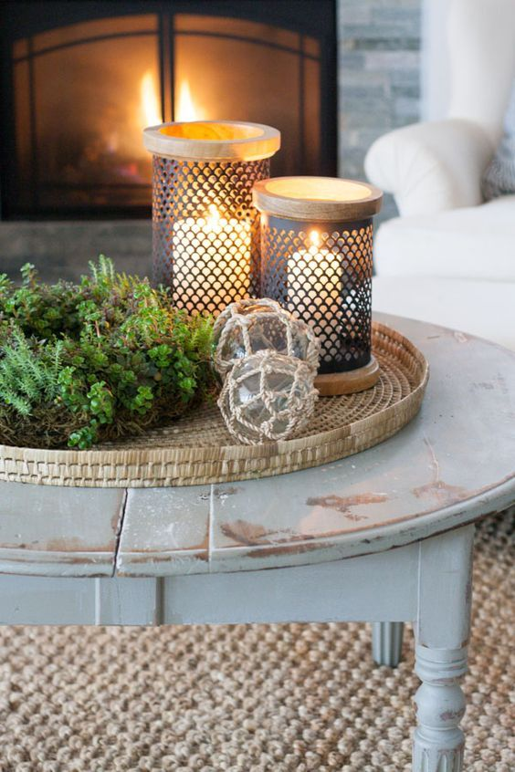 A Coastal Style Vignette Decorating Coffee Tables Table Decor