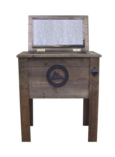 Furniture Legs Menards rustic wooden deck cooler at menards | cozy innsbrook cabins
