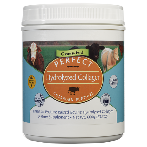 Perfect Hydrolyzed Collagen 100 Hydrolyzed Collagen Sourced From Brazilian Pasture Raised Grass Fed Cows Hydrolyzed Collagen Collagen Grass Fed Cows