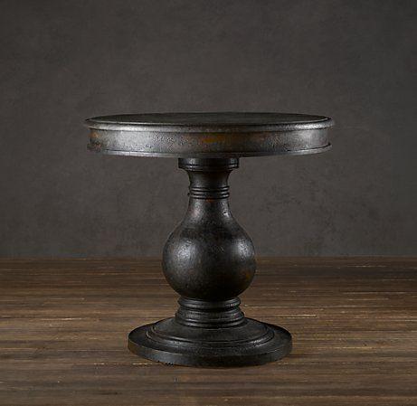 Vintage Foyer Pedestal Table Pedestal Table Foyer Decorating Restoration Hardware Round foyer pedestal table
