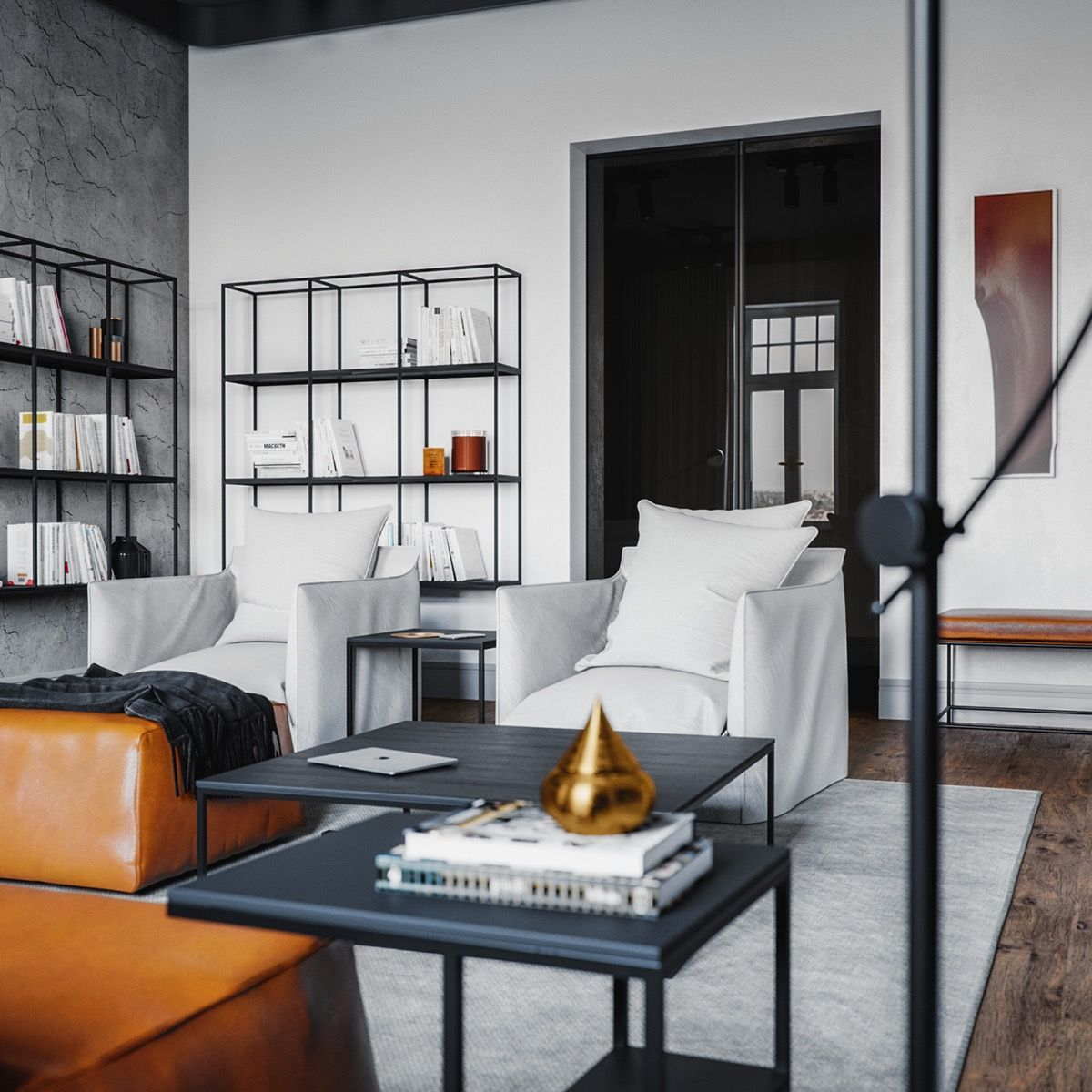 sophisticated industrial style homes also shelves rh pinterest