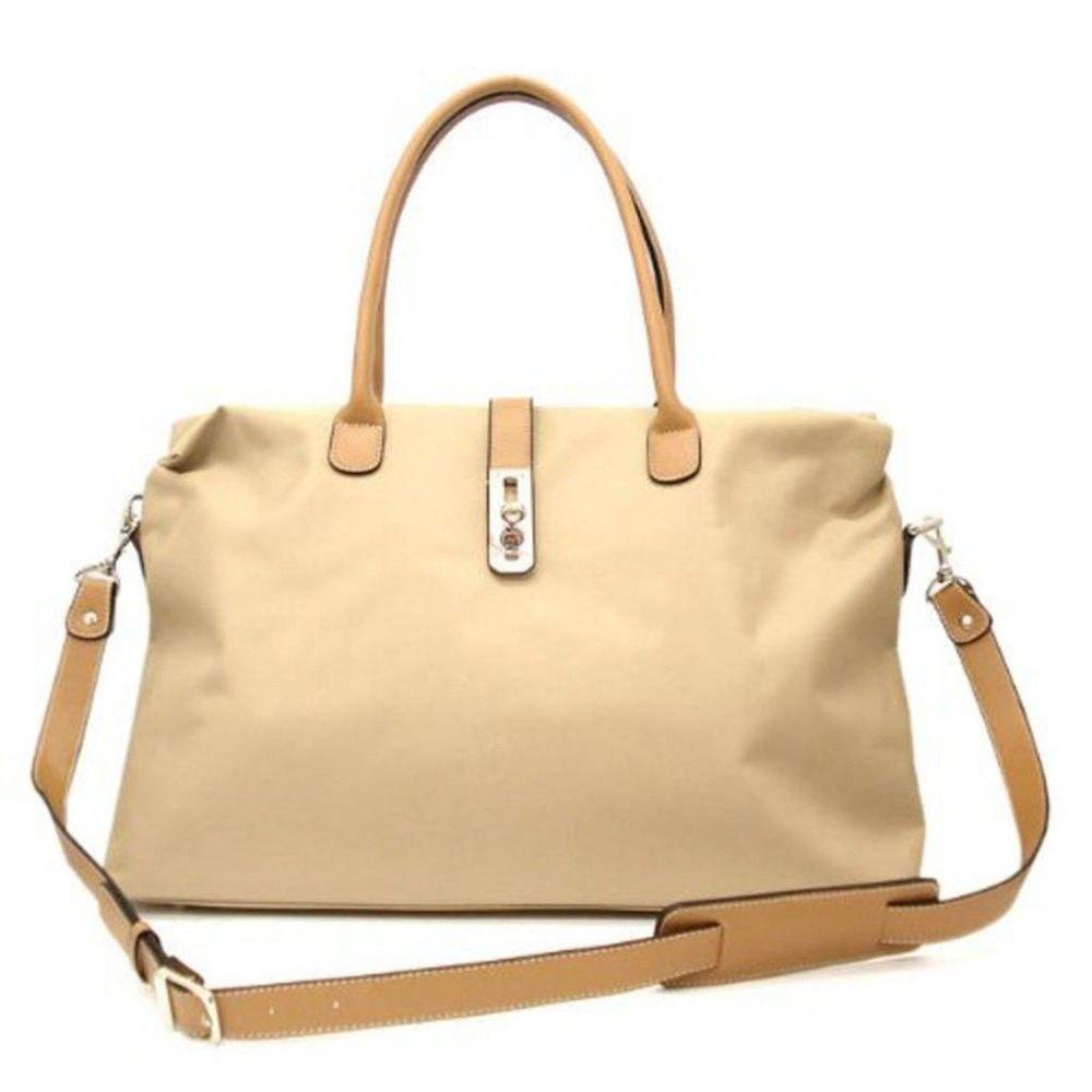 Tosca Women's Nylon Oversized Travel Tote Bag w/ Detachable ...