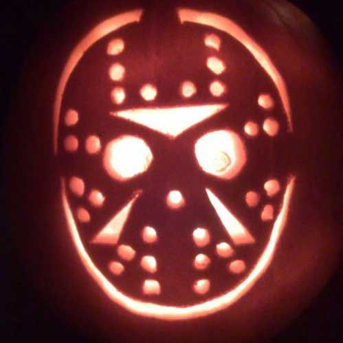 Friday The 13th Jason Voorhee Mask Of Pumpkin