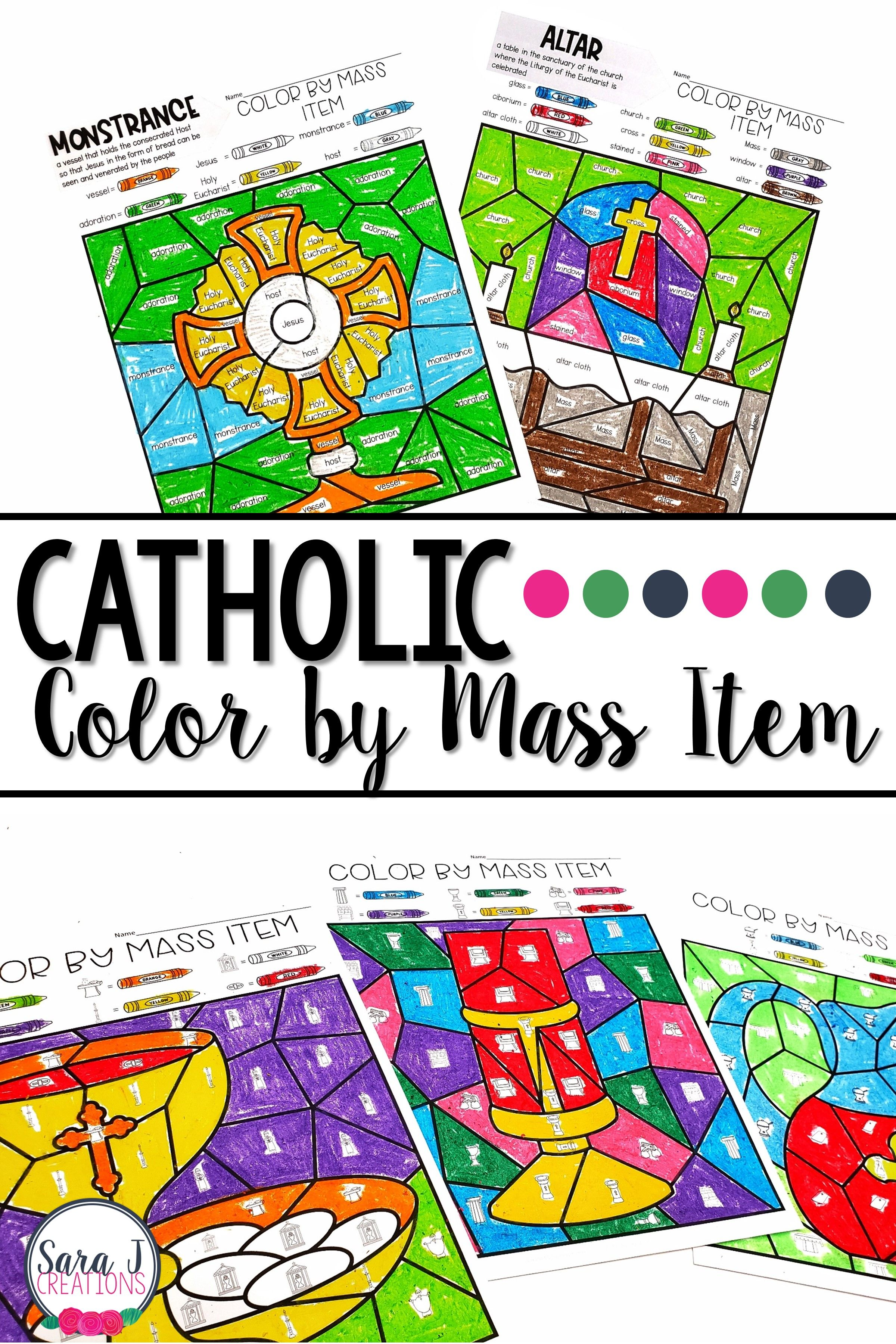 Color By Catholic Mass Objects With Images