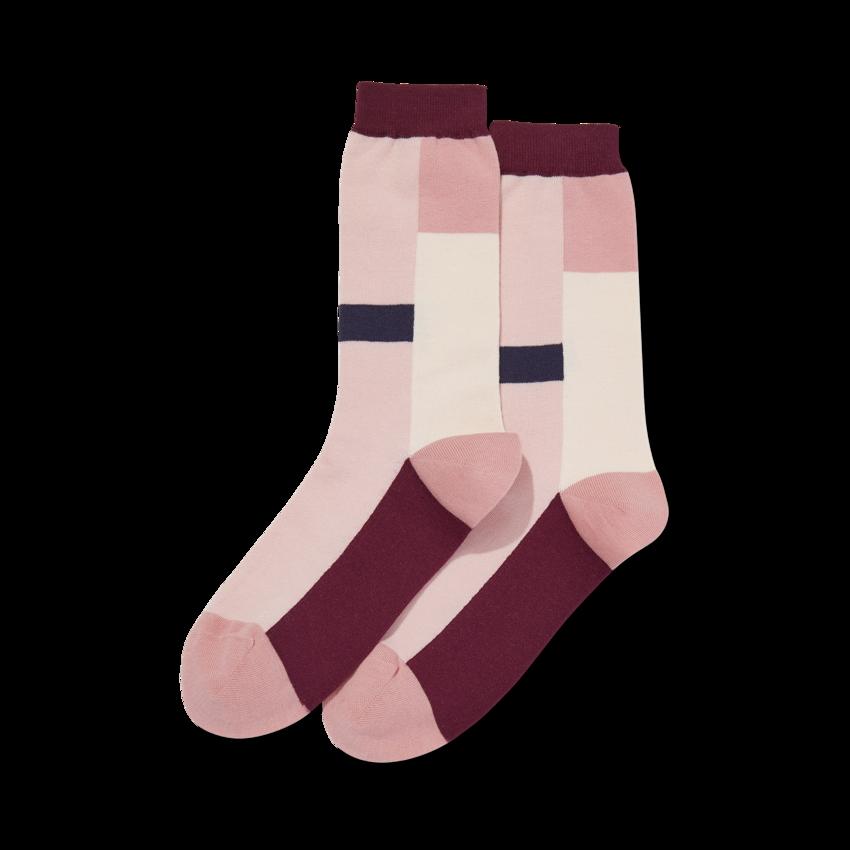 Women S Color Block Stripe Socks In 2020 Striped Socks Block Striped Socks