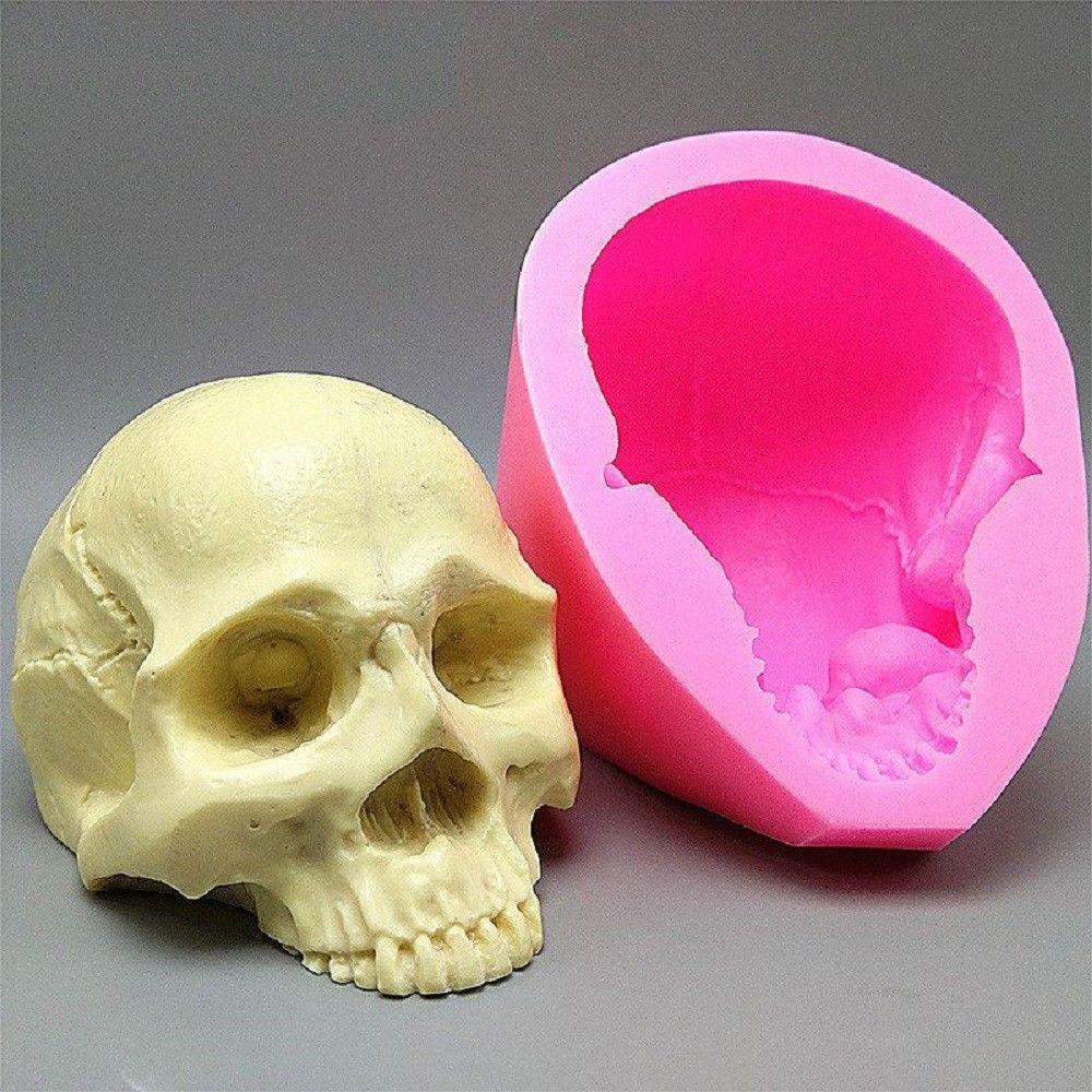 Skull Silicone Mould Fondant Cake Mould Resin Gypsum