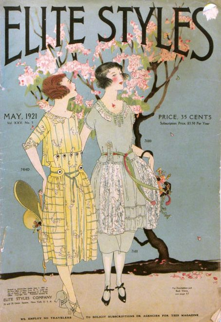 """SHORPY: Elite Styles Magazine was published from 1897-1929, billing itself as """"the magazine of sartorial delights."""" It was published by the Elite Styles Company, a pattern maker designed for professional dressmakers specialising in women's and girl's clothing. It was based in NYC where it held fashion shows for out-of-town dressmakers."""