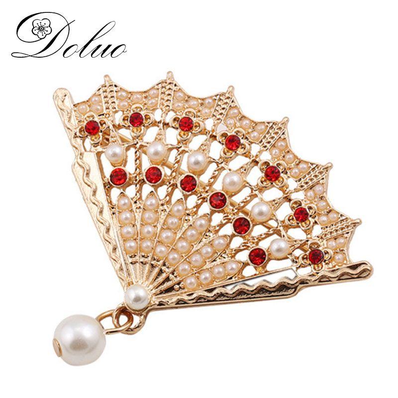 f861f5eb4cb Cheap brooches for women, Buy Quality brooches for women pearl directly  from China pearl brooches for women Suppliers: Alloy Gold Plating geometric  fan ...
