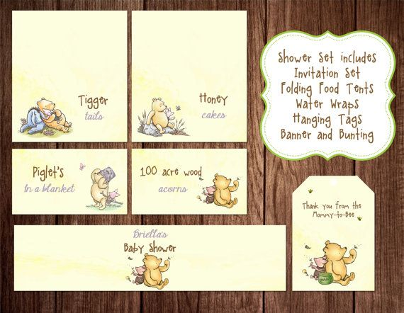 Printable winnie the pooh baby shower story book baby shower printable winnie the pooh baby shower story book baby shower invitation classic winnie the pooh birthday filmwisefo Images