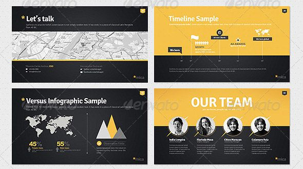 Modern Infographic Origami Template  Infographic Presentation