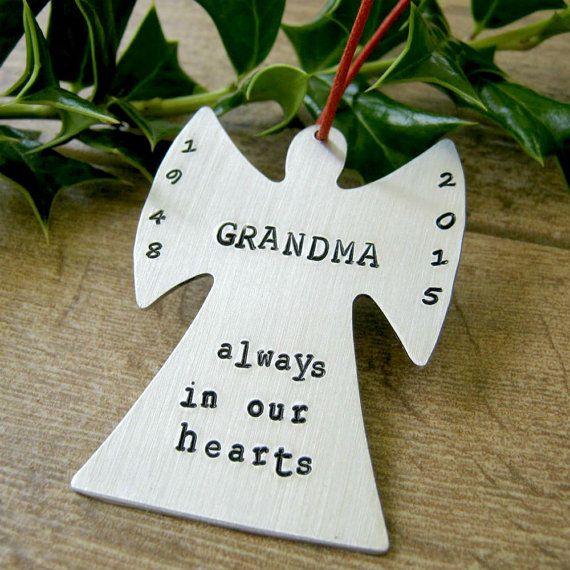 personalized angel ornament memorial ornament keepsake featuring