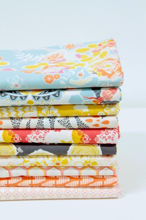 Sweet as Honey Fabric by Bonnie Christine