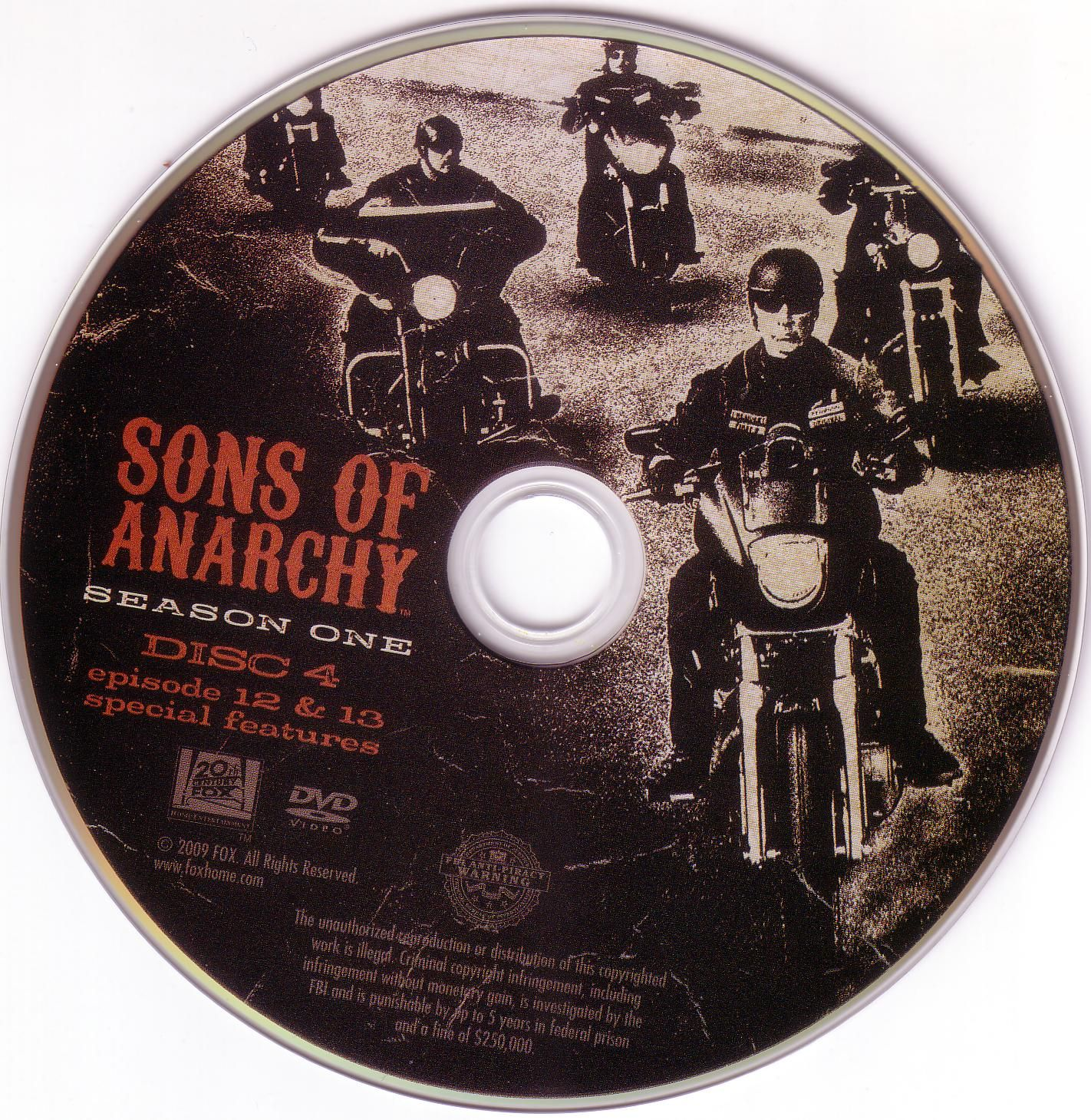 Season 1 Disc 4 Episodes 12 13 Anarchy Sons Of Anarchy Disc