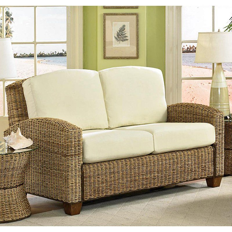 Wicker furniture isn 39 t just for outdoors it looks great for Rattan living room furniture