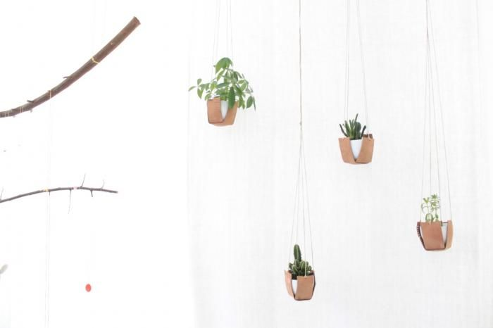 DIY: Leather Hanging Plant Holders : Gardenista