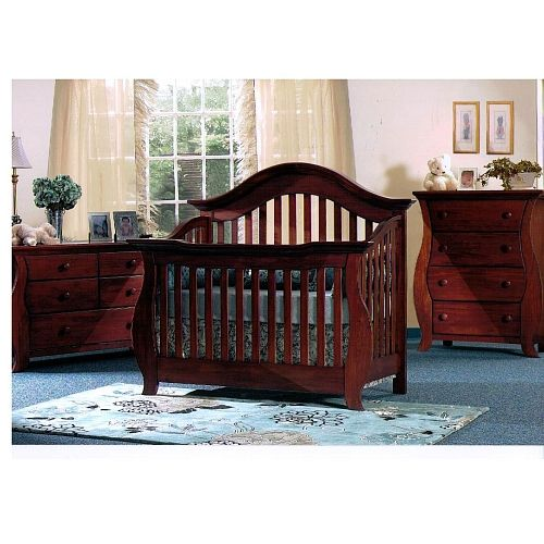 5 Cool Cribs That Convert To Full Beds: Baby Cache Oxford Lifetime Crib - Cherry