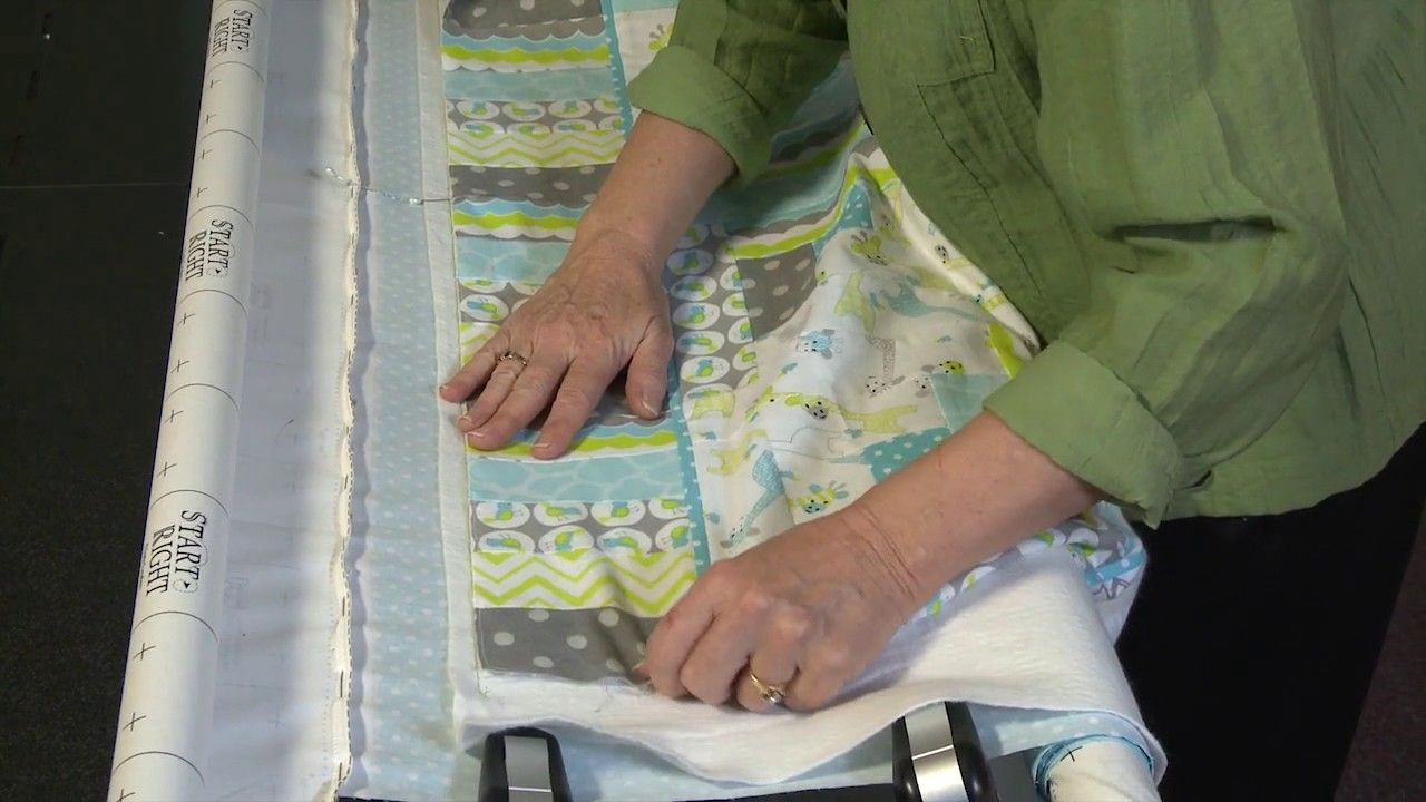 Grace Longarm Quilting Tip 6 LOADING A QUILT Quilting