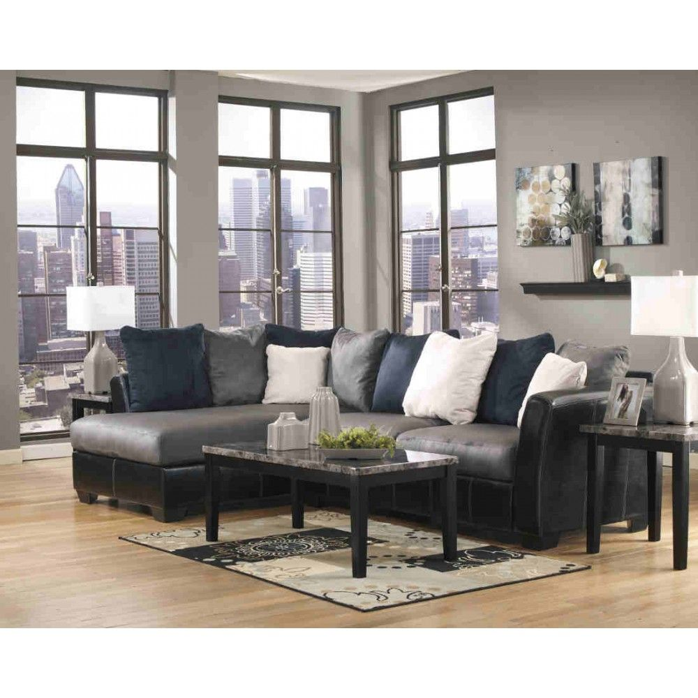 Ashley Furniture Masoli Sectional in Cobblestone | Space Saving ...