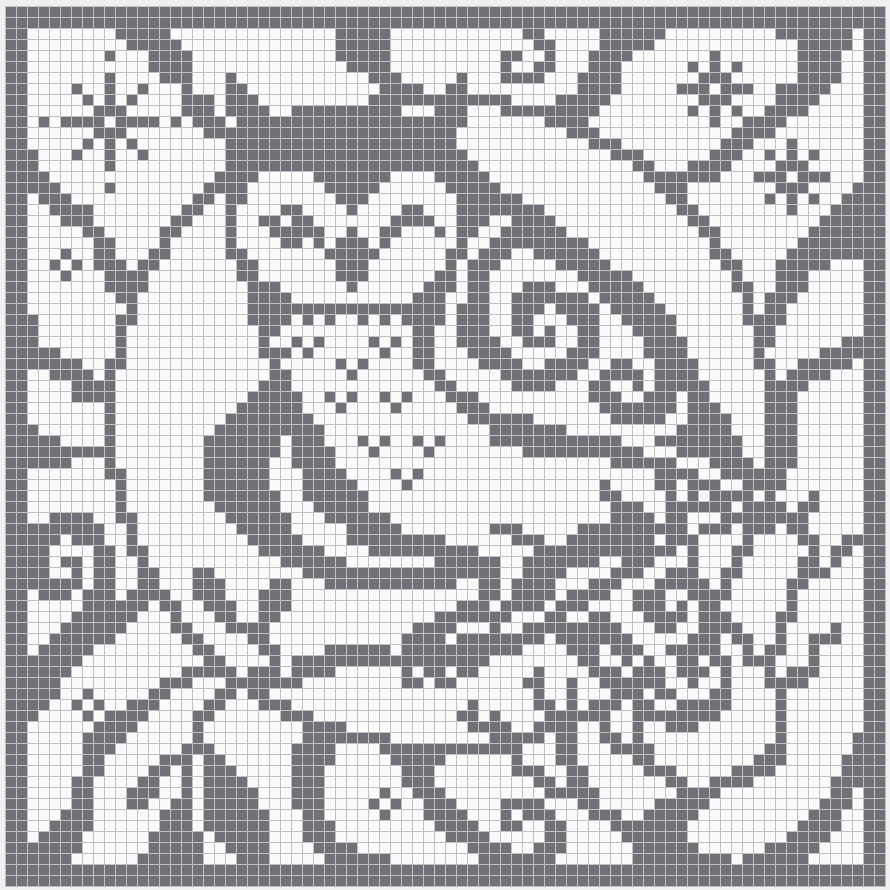 Filet crochet charts owl square chart for cross stitch filet crochet charts owl square chart for cross stitch crochet colour bankloansurffo Images
