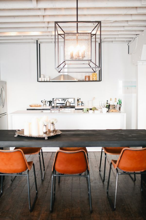 Pin By Mary Dunn On Eclectic Interiors Kitchen Interior Orange Dining Chairs Home Kitchens