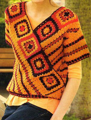 tejidos artesanales en crochet  remera con escote en V tejida en crochet  (talle small) (s) 9a1fb24ef0